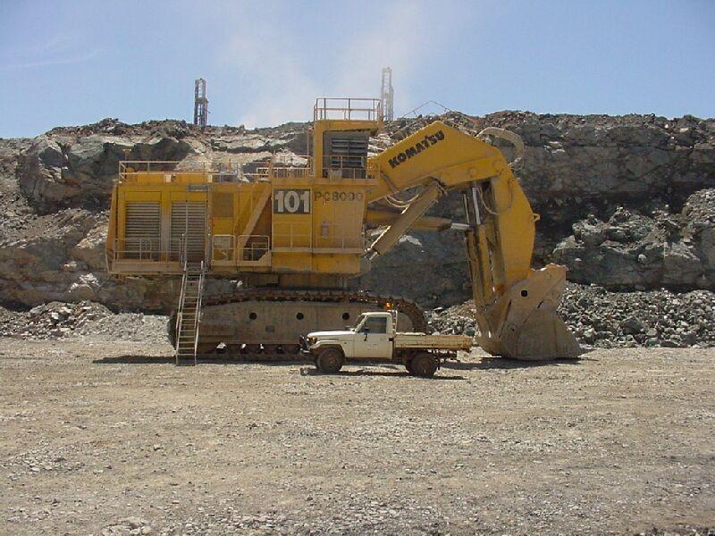 Komatsu Pc8000 World Biggest Hydraulic Excavator Avirat Group