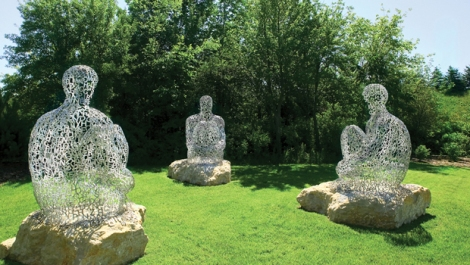 Jaume Plensa, I You She Or He, 2006, at Yorkshire Sculpture Park.