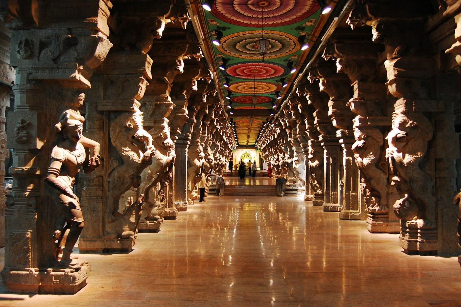 Beautiful Hall Of 1000 Pillars Madurai India Avirat Group