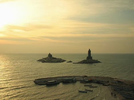 Vivekananda_Rock_&_Valluvar_Statue_at_Sunrise